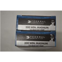 40 ROUNDS FEDERAL 300 WIN MAG 150 GRAIN SOFT POINT