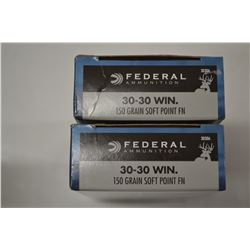 40 ROUNDS FEDERAL 30-30 WIN 150 GRAIN SOFT POINT