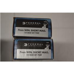 40 ROUNDS FEDERAL 7MM WIN SHORT MAG 150 GRAIN SP