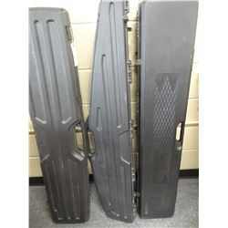 3 PLASTIC LONG GUN CASES