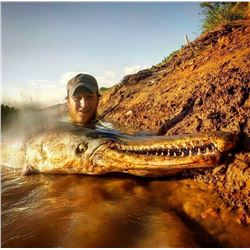 4 Day Giant Alligator Gar fishing and Wild Hog hunt in Texas for 2