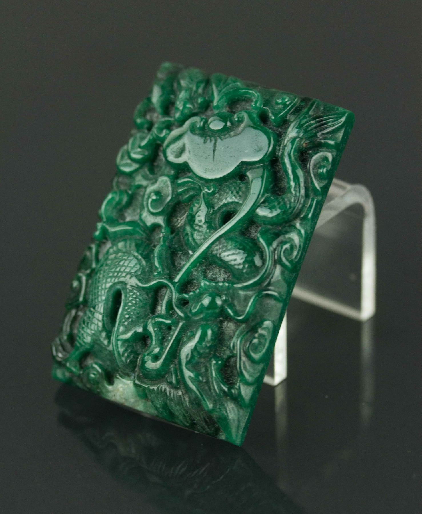 pendant green sold by fullxfull il listing oriental chinese jade carved