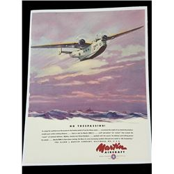 1940 Martin PBM-1 Patrol Aircraft Advertisement