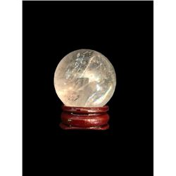 Natural Quartz Crystal Miniature Sphere Scrying Ball