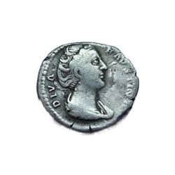 Original Antique Coin SILVER DIVA FAUSTINA Major ROMAN DENARIUS AD 138-141