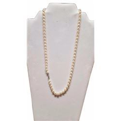 "21"" Pearl & 14kt Gold Necklace -"