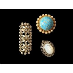 Vintage English Costume Jewelry Brooches