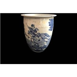 19thc Large Chinese Blue & White Jardiniere