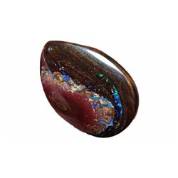 37 cts Blue-green with Purple Hues Boulder Opal