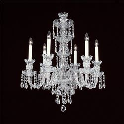 "6-R-8 NF - 6 LIGHT CRYSTAL CHANDELIER WITH SWAROVSKI - 22"" X 28"""
