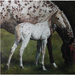Original Oil on Canvas Horse/Colt Series, signed, Y.O.G. Bianco - Master Artist. Unique, Extraordina