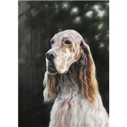 Original Oil on Canvas Hunting Dog Series. signed, Y.O.G. Bianco - Master Artist. Unique, Extraordin