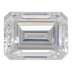 3.5Ct (8x10mm) Emerald Cut Bianco Diamond