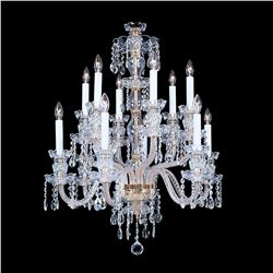 "Durham - 12 Light Crystal Chandelier with Swarovski - 22"" x 31"""