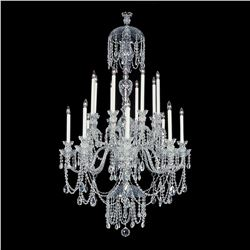 "Winter Elegance - 16 Light Crystal Chandelier with Swarovski - 36"" x 63"""