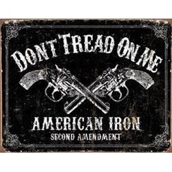 American Iron Metal Sign, Don't Tread On Me