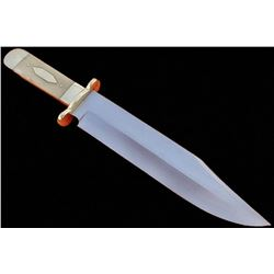 -HKC-40- Handmade 17 Inches High Carbon Steel Bowie Knife -Stained Bone Handle