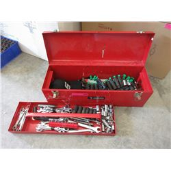 Metal Husky Toolbox with Tools
