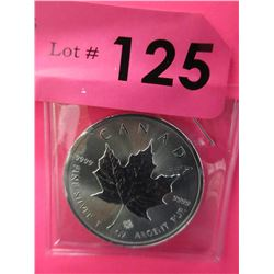 1 Oz. .9999 Fine Silver Canada Maple Leaf Coin