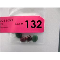 4 Loose Emerald & Ruby Gemstones - 18 CTW