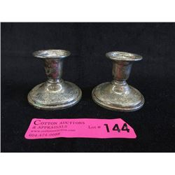 "Pair of Birks Sterling 2.5"" Candle Holders"