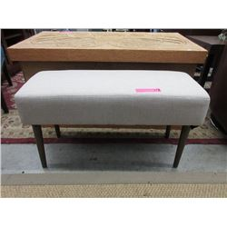 New Condo Size Fabric Upholstered Bench