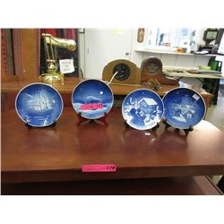 4 Royal Copenhagen Christmas Plates