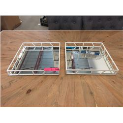 Pair of New Nate Berkus Mirrored Metal Trays