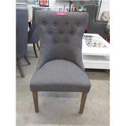 New Button Tufted Fabric Upholstered Dining Chair