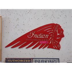 Sheet Metal Indian Motorcycle Sign