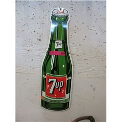 Enameled 7up Bottle Sign
