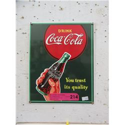 Enameled Coca-Cola Sign