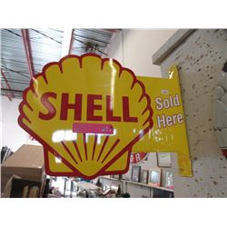Double Sided Tin Shell Sign