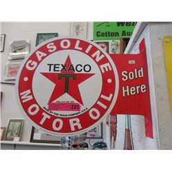 Double Sided Tin Texaco Sign