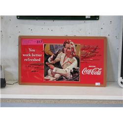 New Embossed Metal Coca-Cola Sign