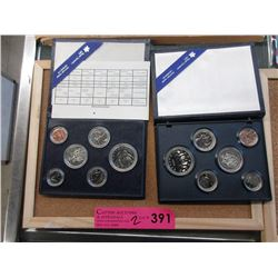 2 Royal Canadian Mint Specimen Coin Sets
