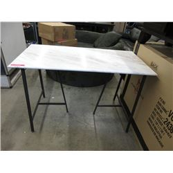 New Marble Top Desk with Metal Frame