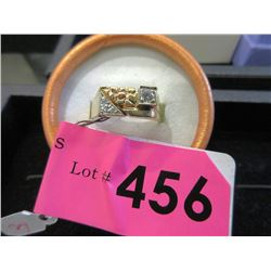 New 10 KT Gold Men's Nugget Style Diamond Ring