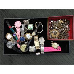 Assorted Preowned Watches & Antique Watch Parts