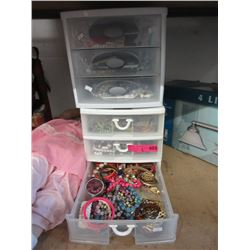 2 Containers of Assorted Costume Jewelry