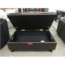 New Stylus Leather Storage Ottoman