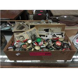 Bottle Cap Collection & Vintage Photographs