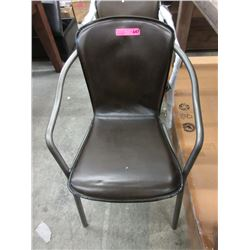 New Leather Stylus Dining Chair with Metal Frame