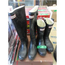 2 Pairs of Hunter Rubber Boots
