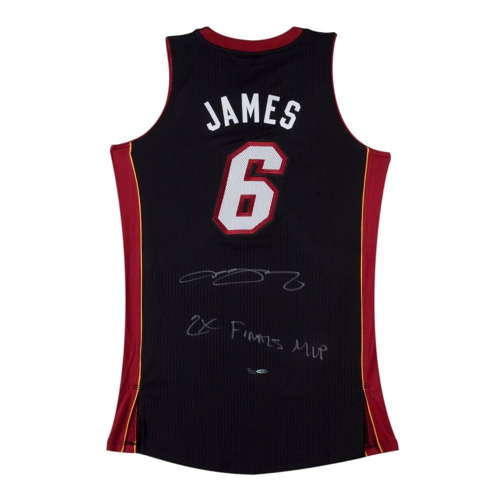 8e5d8e53b Image 1   LeBron James Signed Heat Limited Edition Jersey Inscribed