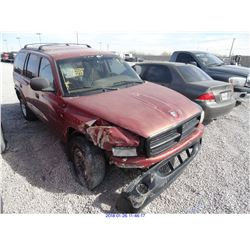 1999 - DODGE DURANGO// SALVAGE TITLE