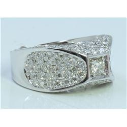 14K WHITE GOLD RING 8.90 GRAM  DIAMOND 1.80CT DIAMOND 0.16CT CENTER