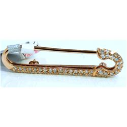 14K ROSE GOLD BROOCH 3.30GRAM  DIAMOND 0.45CT