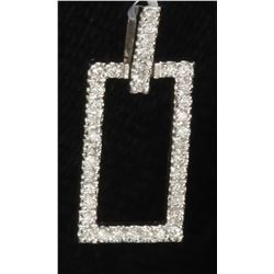 14K WHITE GOLD DIAMOND PENDANT:2.50 GRAMS/DIAMOND:0.40CT