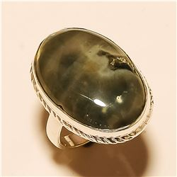 Ocean Jasper RING Solid Sterling Silver